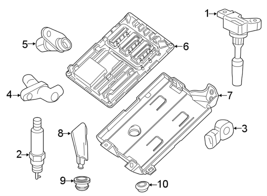 Buick Lacrosse Engine Control Module Clip  3 6 Liter