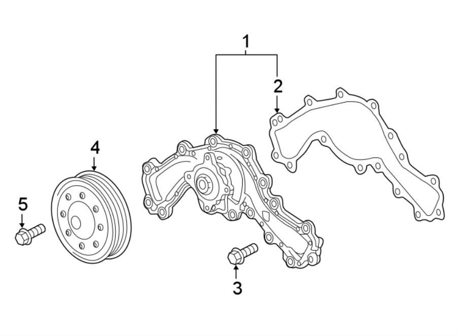 Buick Enclave Bolt  Bracket  Alternator  Water  Pump   Upper