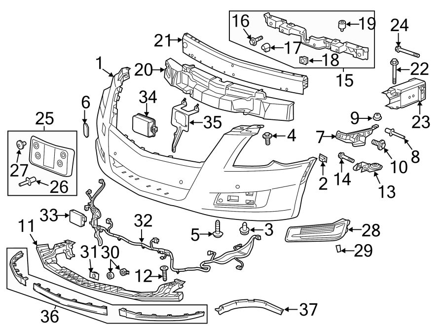 cadillac xts parking aid system wiring harness  2013