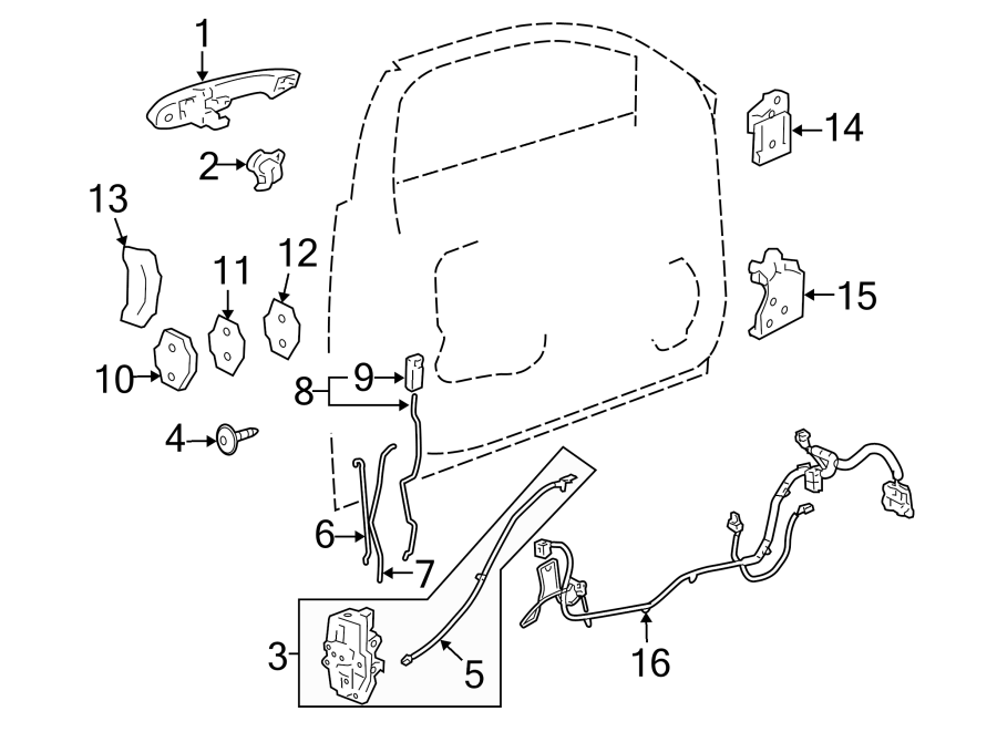Chevrolet Impala Limited Door Wiring Harness  Front   Lt