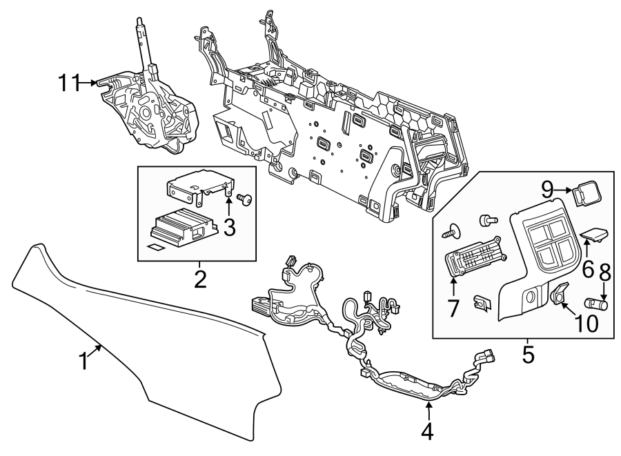 chevrolet impala console air vent  lower components