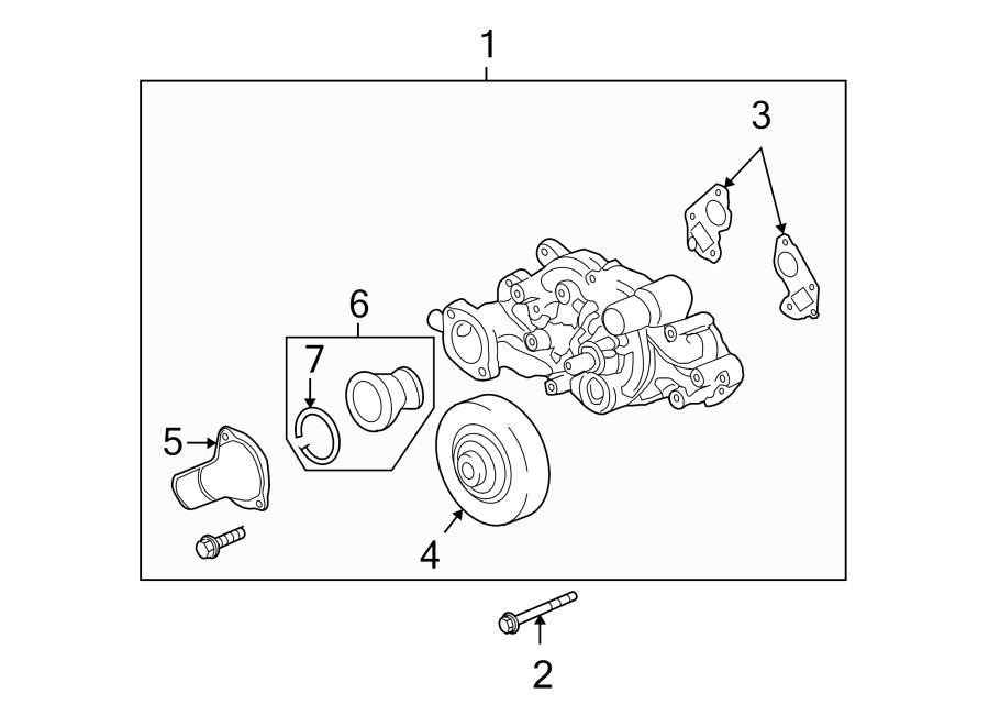 Chevrolet Tahoe Engine Coolant Thermostat. LITER ...