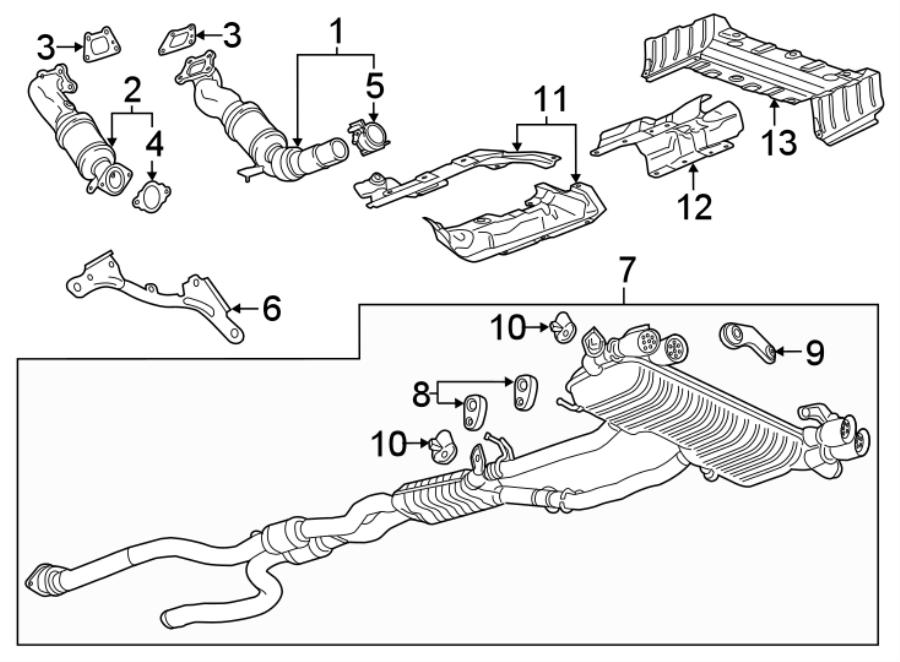 Chevrolet Camaro Exhaust Muffler  3 6 Liter  W  Performance Exhaust  Manual Trans