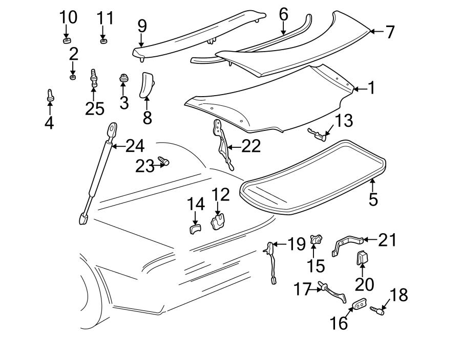 Buick Riviera Latch  Lock  Firebird  U0026 Formula  Trans Am  Cable  Deck Lid  Liftgate