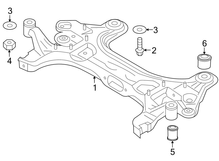 Chevrolet Aveo5 Suspension Subframe Crossmember  2nd Design  Aveo  Aveo5