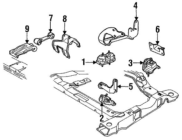 Oldsmobile Cutlass Ciera Mount  Insulator  Motor  Rear