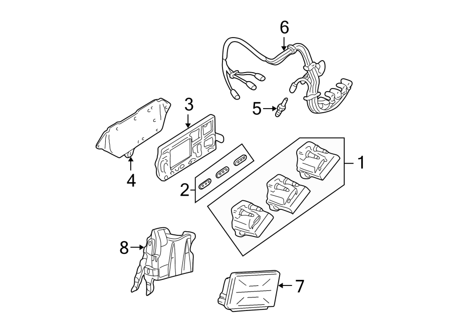 Chevrolet Malibu Spark Plug Wire Set  Wire  Set  Plug  Kit