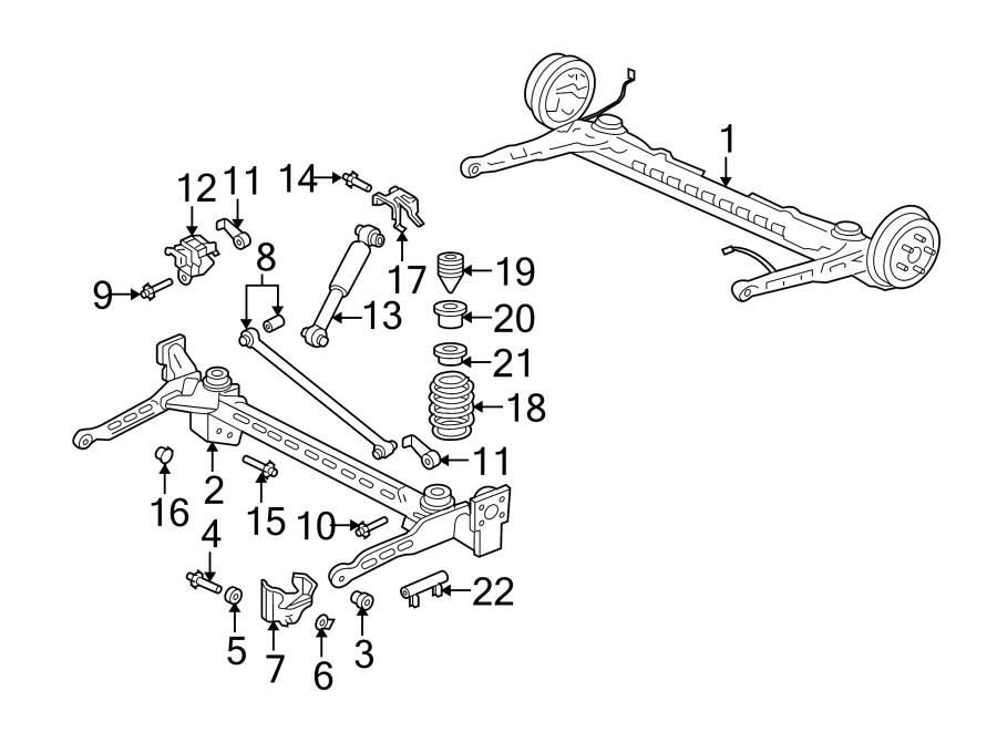 Pontiac Aztek Suspension Track Bar  Rear