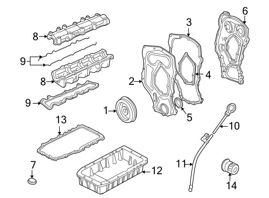 Pontiac Grand Am Engine Timing Cover  2 4 Liter  Timing