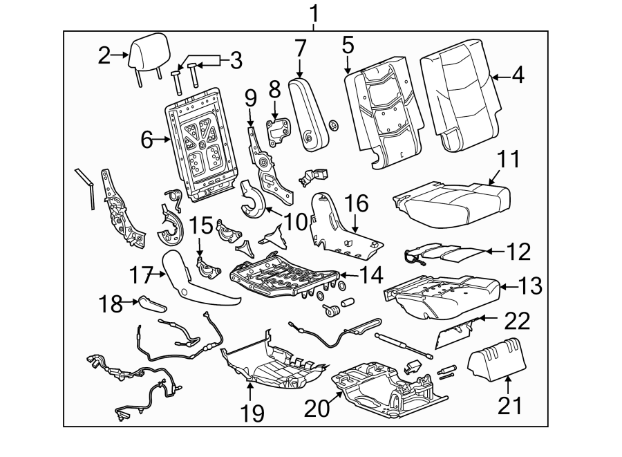 Chevrolet Suburban Folding Seat Latch  Bucket Seat