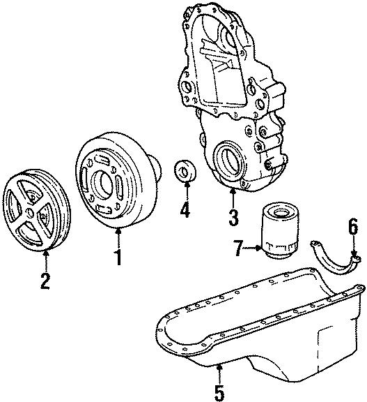 GMC C1500 Suburban Engine Oil Pan Gasket (Rear). Seal. Oil ...