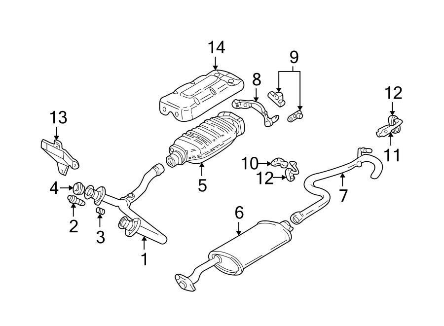 GMC Sonoma Exhaust Muffler. 1994-99 4.3 LITER, 4WD ...