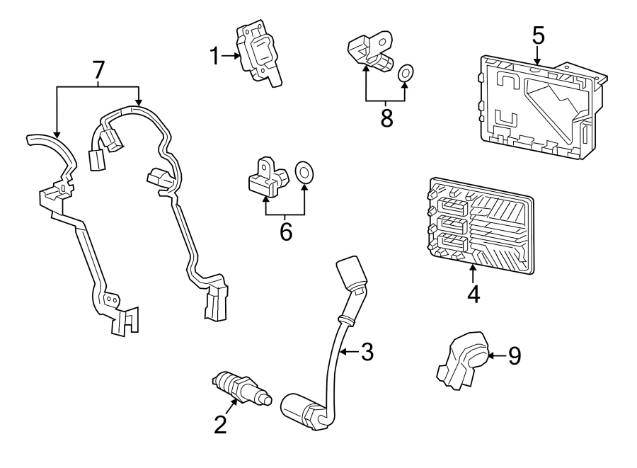 Chevrolet Silverado 1500 Engine Control Module Bracket  4