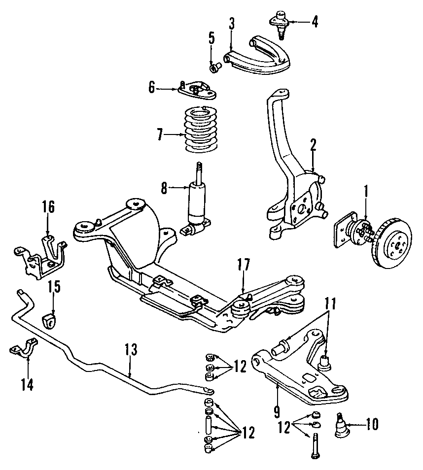 Pontiac Firebird Steering Knuckle  Suspension  Right  Front