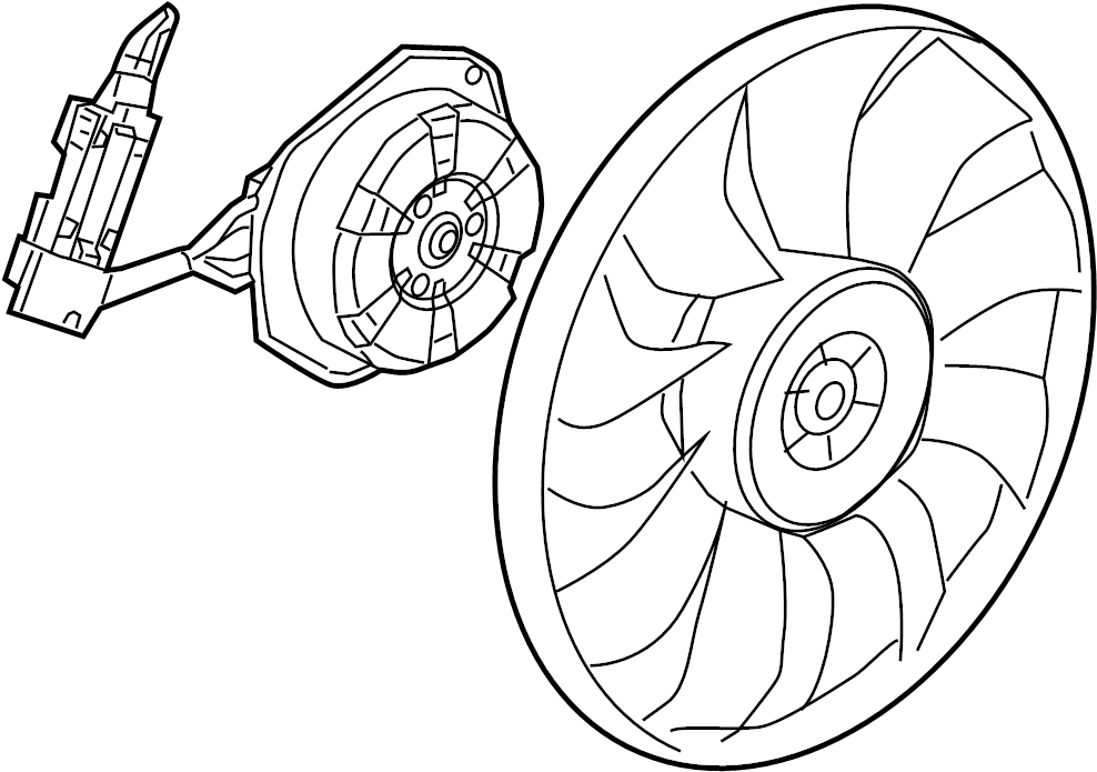 Buick Verano Engine Cooling Fan Motor