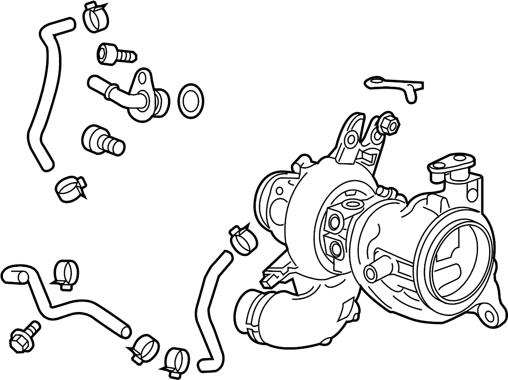 Chevrolet Trax Exhaust Manifold  Turbocharger  1 4 Liter