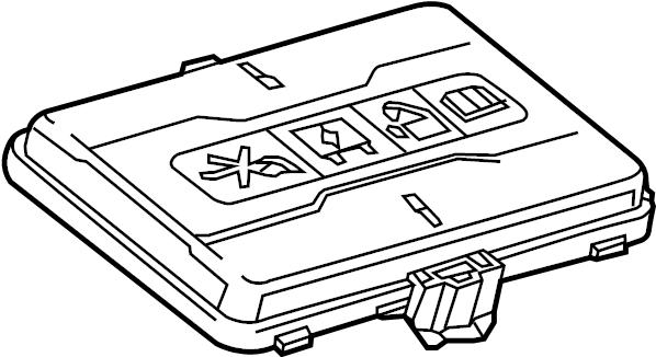 Chevrolet Malibu Fuse Box Cover  Included With  Fuse  U0026 Relay Box