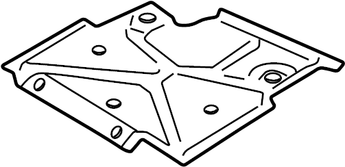 Chevrolet S10 Powertrain Skid Plate Front Suspension Manual Guide